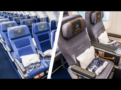 Economy Class VS. Premium Economy Class  |  WHAT'S THE DIFFERENCE? | Lufthansa Airbus A350-900XWB