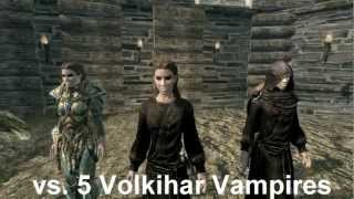 Skyrim Battle - 50 Werewolves vs 5 Master Vampires