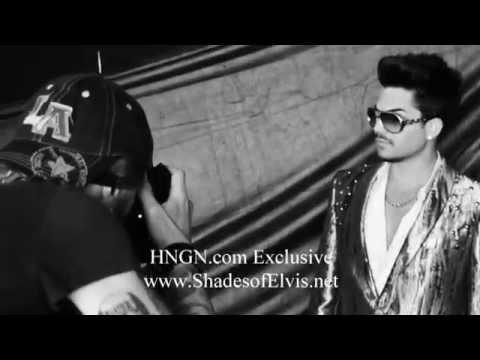 Adam Lambert ShadesofElvis Behind scenes final