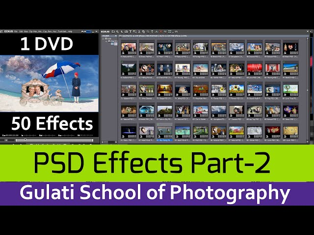 05 PSD ( Part-2) |  Wedding Effects For Edius 7, 8 & 9 | Video Mixing | Mask Effects ( 50 Effects )