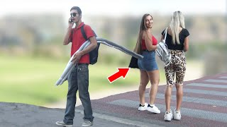 Sticks on the street PRANK -  | AWESOME REACTIONS