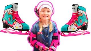 Как научиться кататься на роликах/ Школа малышки Angie/