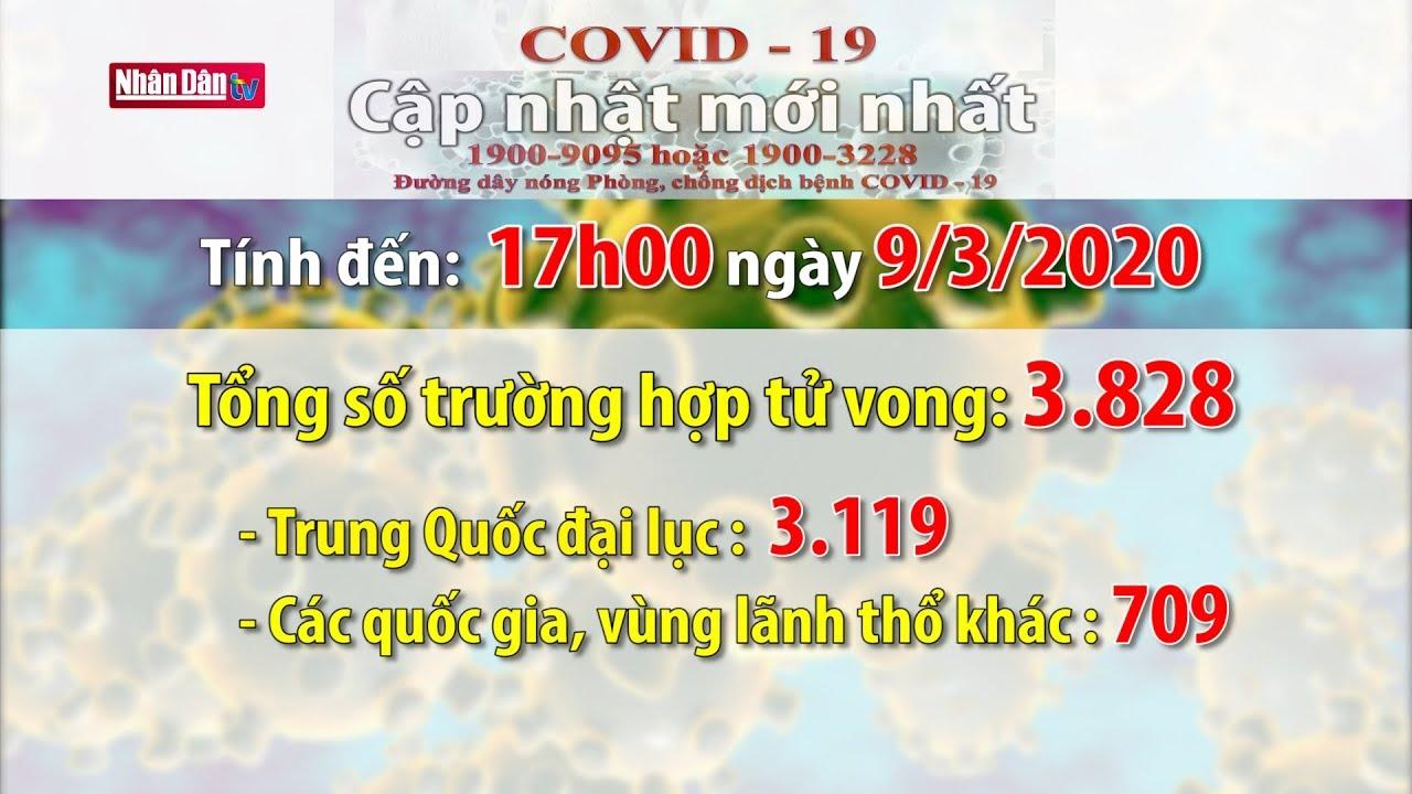 Tình hình dịch bệnh Covid-19 tính đến 17h00 ngày 9-3-2020