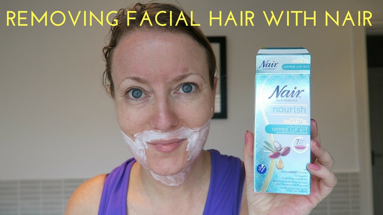Removing Facial Hair With Nair Youtube
