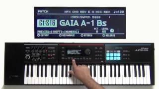 Roland Juno-DS - How to use Apreggio