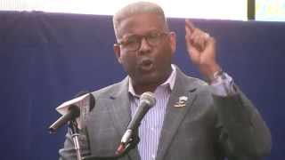 Original, Col. Allen West slams Obama in N.Y. anti-Iran Rally; Best cheers video