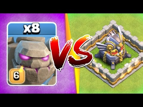 Thumbnail: WHAT HAPPENS WHEN 8 GOLEMS ATTACK ONE BASE!?! - Clash Of Clans New Events 2017!