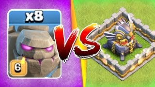 Repeat youtube video WHAT HAPPENS WHEN 8 GOLEMS ATTACK ONE BASE!?! - Clash Of Clans New Events 2017!