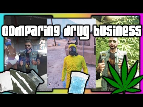 GTA 5 Online :: Comparing Drug Businesses Payouts :: Biker DLC