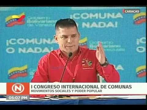 Nicolás Maduro en la clausura del I Congreso Internacional de Comunas