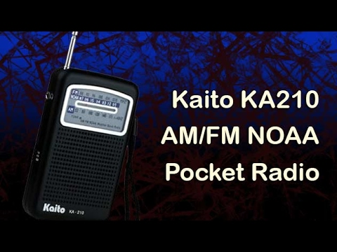 Kaito KA210 Pocket AMFM NOAA Weather Radio