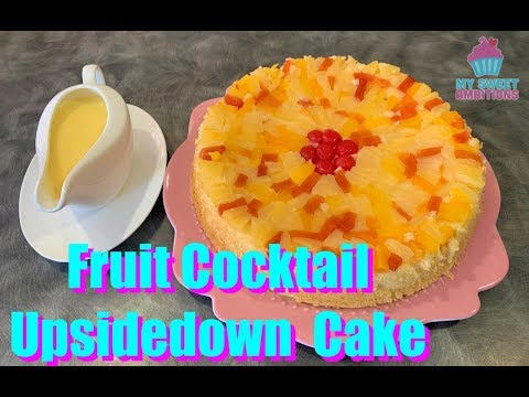 Fruit Cocktail Upsidedown Cake - Mysweetambitions