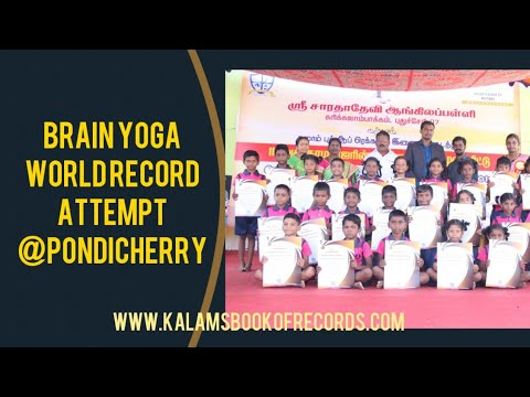 Brain Yoga World Record L Group World Record L Kalams Book Of Records L Kbr Youtube