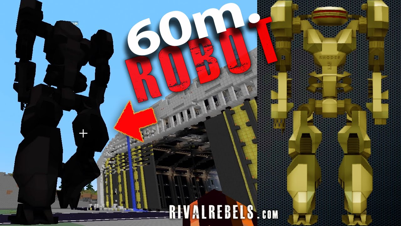 60m Tall Nuclear Robot In Minecraft Mod Youtube