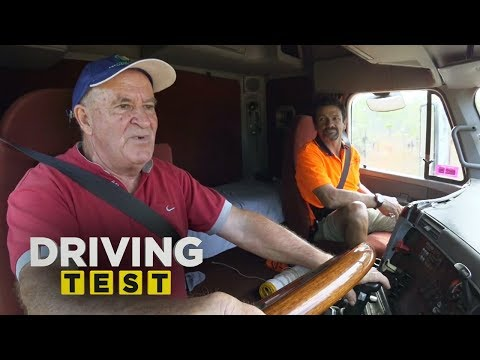 Senior Citizen Learns The 18 Gears Of A Truck | Driving Test Australia