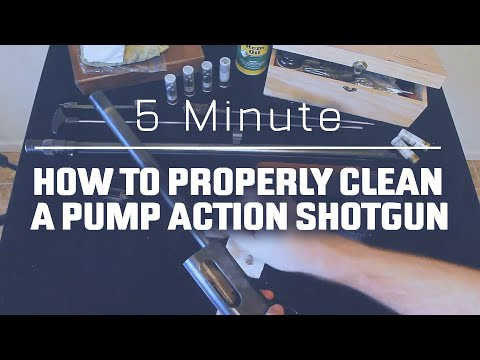 5-minute – How to properly clean a pump action shotgun - Remington 870