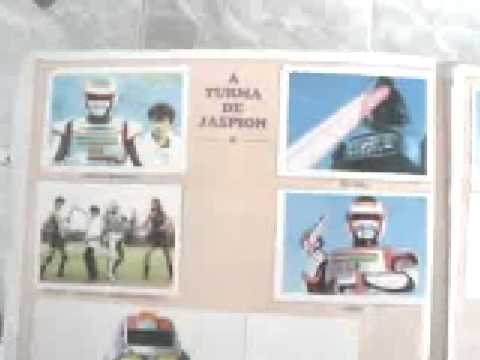 Jaspion e Changeman album completo figurinhas