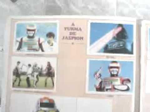 Jaspion e Changeman album completo figurinhas