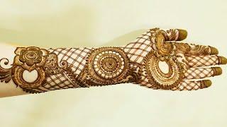 Beautiful And Heavy Henna Design For Backside Modern Dubai Style