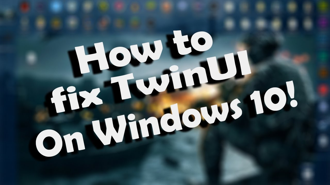 How to fix TwinUI on windows 10! | Quick and Easy Solution | - YouTube
