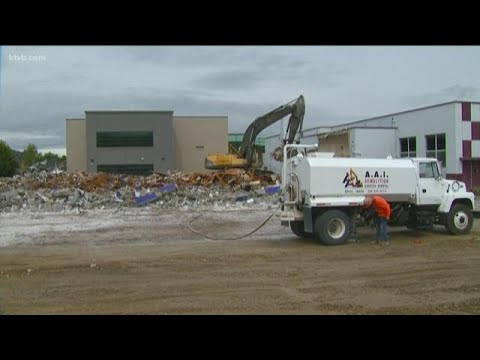 Demolition work begins on Pierce Park Elementary School in Boise