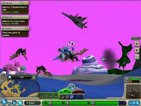 spore star search season2 episode3 hot water T1 creature stage part 2 searching