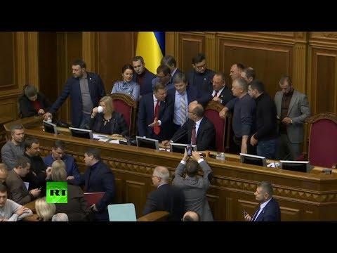 Heated debate in Ukrainian parliament voting on martial law decree