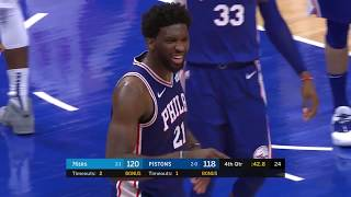 Joel Embiid Trolls Andre Drummond Into an Ejection