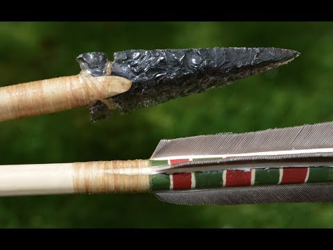 Ishi Arrow Part 1. How to make a primitive Native American Arrow for primitive archery hunting