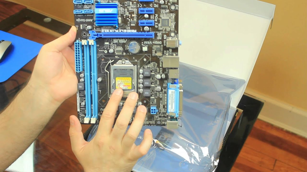 ASUS P8H61-M LX PLUS R2 0 Motherboard Unboxing