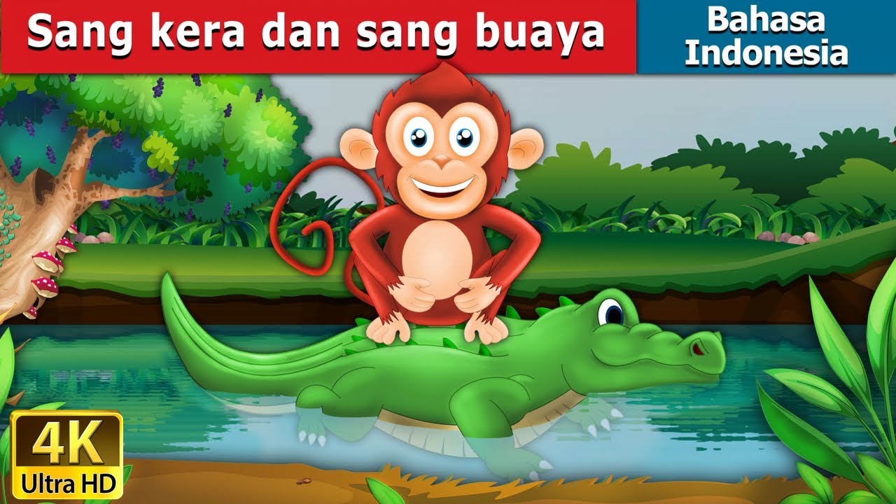 Gambar Monyet Dan Anaknya Animasi Sang Kera Dan Sang Buaya Dongeng Anak Kartun Anak Dongeng Bahasa Indonesia Youtube