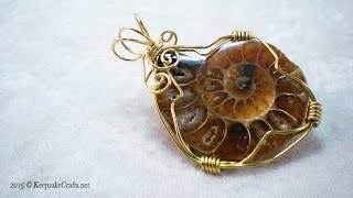 How To Make Wire Wrapped Ammonite Jewelry