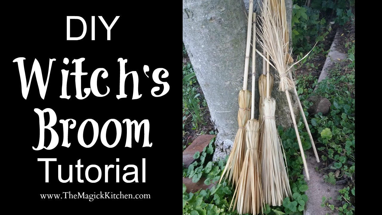 DIY Witch's Broom Tutorial - YouTube