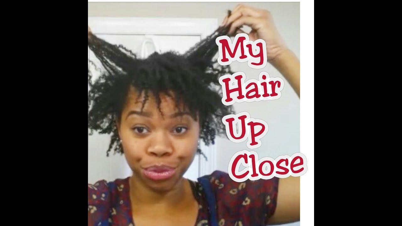 natural hair close 4c curl