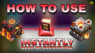 CLASH OF CLANS : how to use magical item ( book of everything ) in clan game