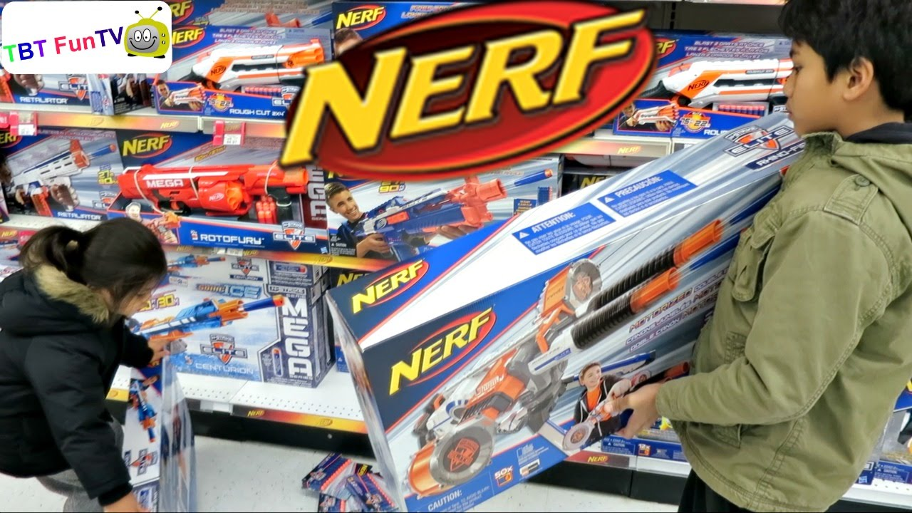 Toys R Us Nerf Guns : Nerf shopping at toys quot r us youtube