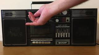 SHARP GF-A10 Küçük Boombox