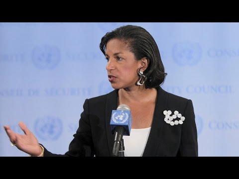 """Susan Rice denies wrongdoing in """"unmasking"""" Trump associates"""