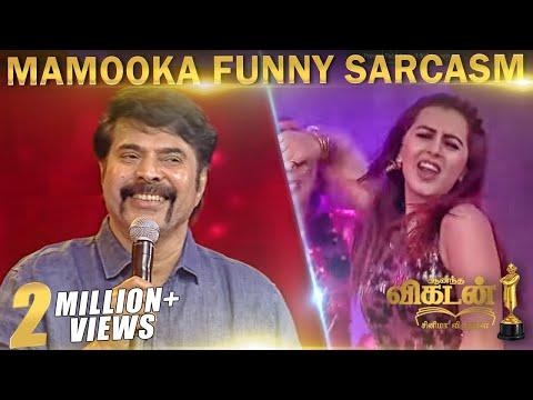 Mammootty FUNNY Reply & Nikki's ROWDY BABY | Vikatan Cinema Awards 2018 part 3