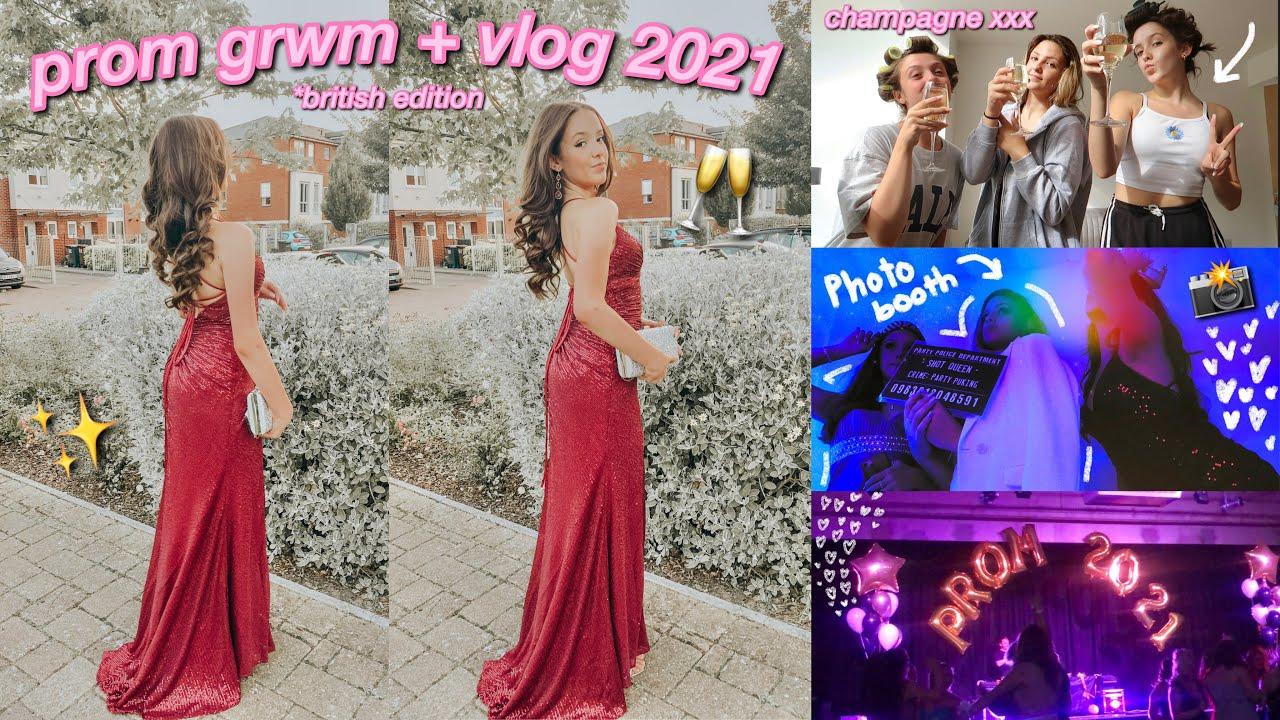 Download my british prom grwm + vlog 2021!    absolute heidi