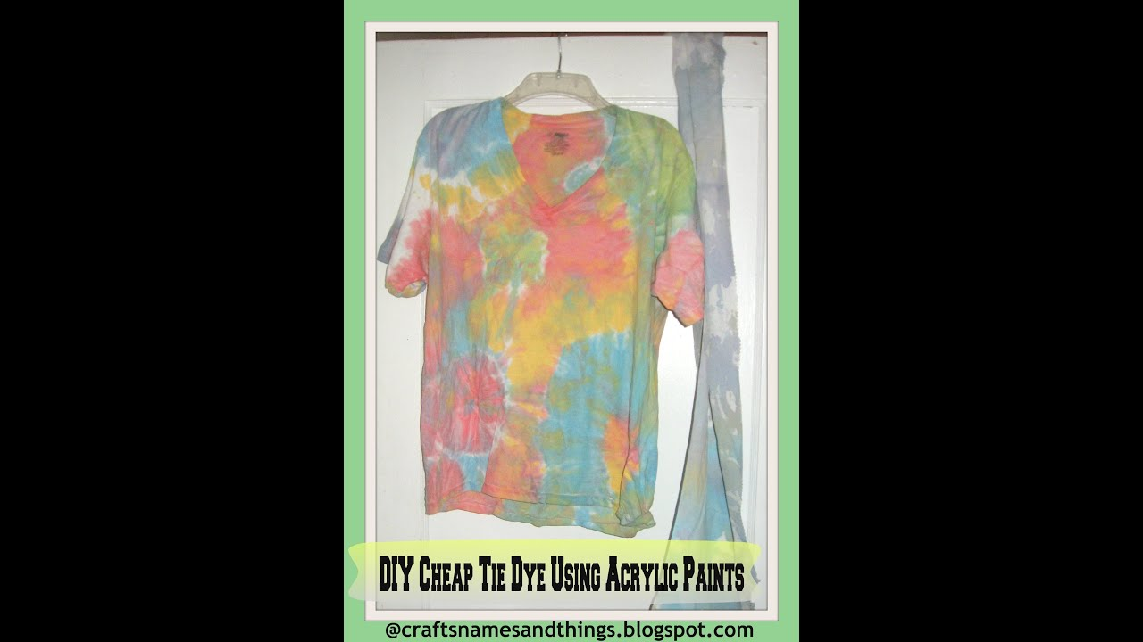 DIY Tie-Dye T-Shirts   How To   Tutorial /How to Tie Dye Using Acrylic  Paints - YouTube