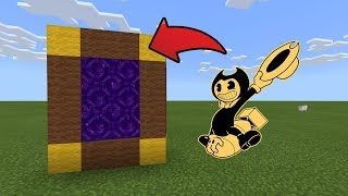 How To Make a Portal to the Bendy Game Horror 2 Dimension in MCPE (Minecraft PE)