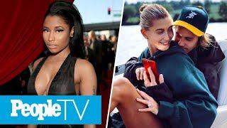Nicki Minaj Shades Travis Scott's Album, Justin Bieber & Hailey Baldwin Cuddle Up | PeopleTV
