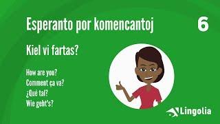 Sprachkurs Esperanto Lektion 6