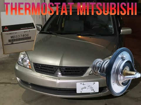 How to install a thermostat STEP by STEP. Mitsubishi Lancer 03-06.