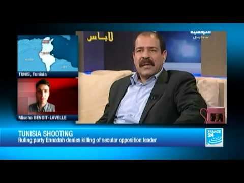 Tunisia shooting: ruling party Ennadah denies killing of secular opposition leader Belaid