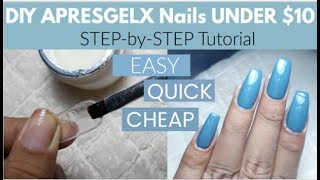 Apres gel-X nails DUPE !!  Apres Gel-X nails at home [CHEAP, EASY & QUICK]
