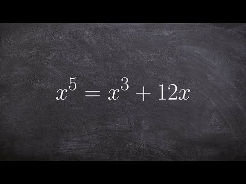 Learn How to Solve a Polynomial Equation to a Higher Degree by Factoring