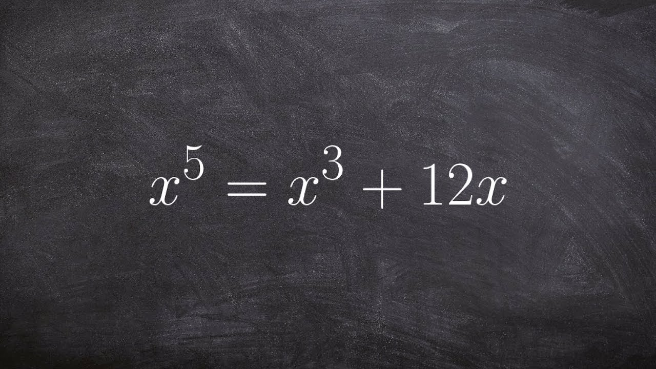 Algebra 2  Learn How To Solve A Polynomial Equation To A Higher Degreee By  Factoring X^5=x^3 +12x