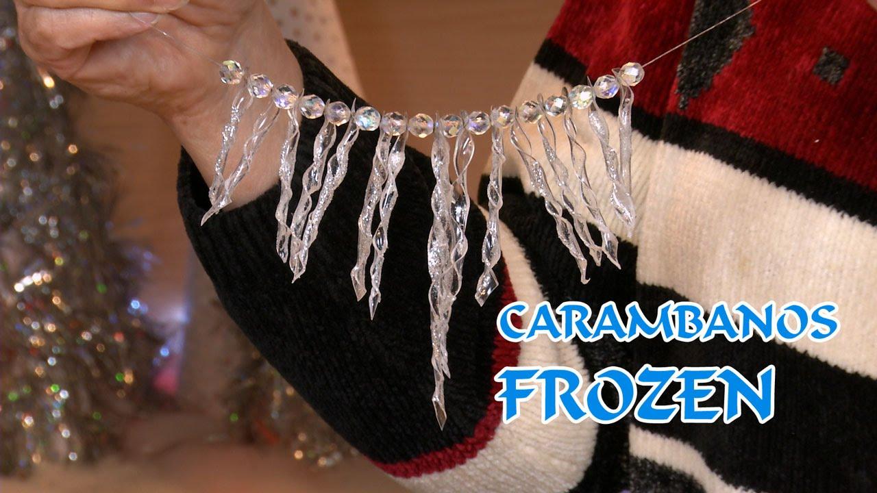 Carambanos y collar frozen y decoracion arbol navidad pet - Como decorar un estanque ...